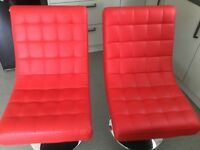 Bargain for 2 x RED RETRO Chairs for BARGAIN price of £60 for 2
