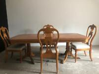 Dining table + Four Chairs