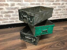 A set of 3 storage tins