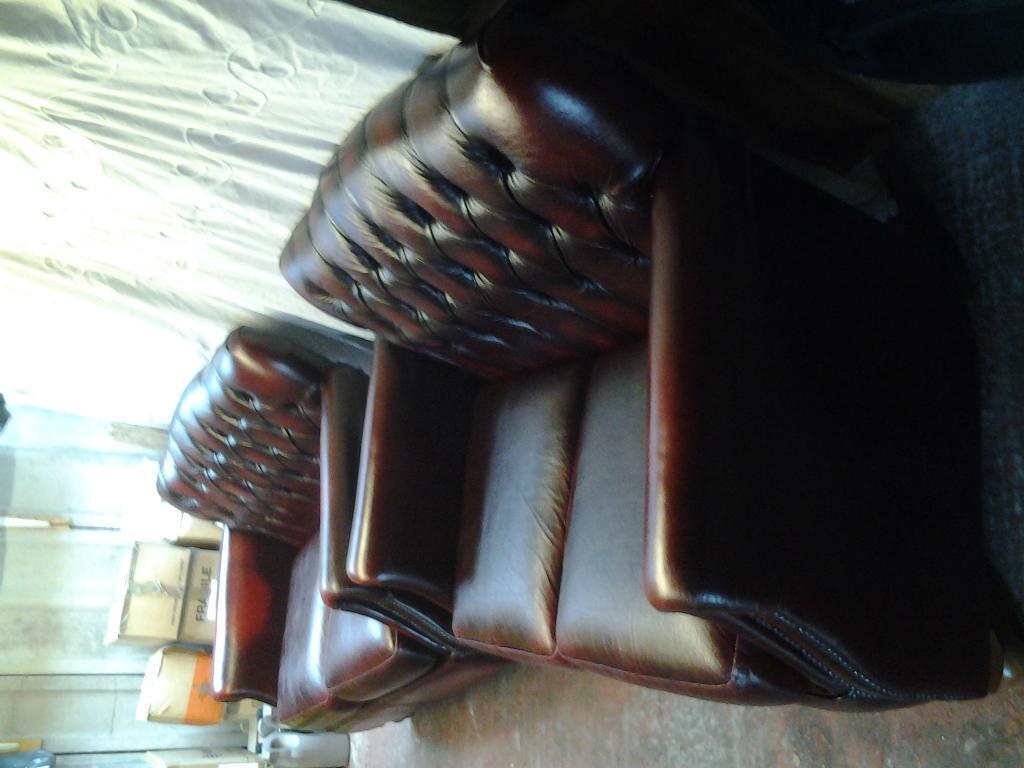 two 2 seater leather sofa's Victoria design