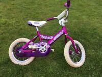 Girls bike 12 inch wheel, Giant Pudding. Purple.