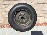 Caravan wheel and tyre 4 stud