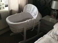 Beautiful Moses basket Excellent condition