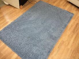 Pale blue rug