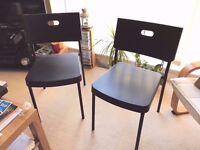 Ikea HERMAN - 2 x Black Chairs £5 each or £8 both