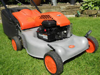 Petrol lawnmowers serviced, and ready for this season. Part exchange your petrol lawn mower