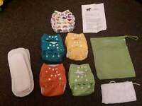 8 Little lambs cloth nappies