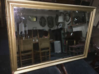 Appealing Looking Gold Shabby Chic Rectangle Antique Bevelled Edge Wall Mirror