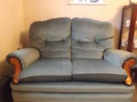 Two Seater Sofa & Two Armchairs - Fabric