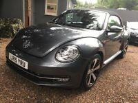 Volkswagen Beetle 1.2 TSI BlueMotion Tech Design Cabriolet DSG 2dr (EU6)FREE 1 YEAR WARRANTY.NEW MOT