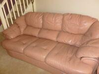 Large Dusky Pink 3 Piece Suite