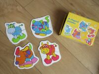 LIKE NEW 4 PIECE PUZZLE SET for TODDLERS - COMPLETE AND IN PERFECT CONDITION