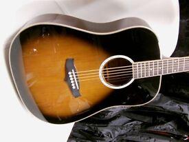 tanglewood steel string guitar