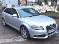 AUDI A3 QUATTRO S LINE 2.0TDI 170 BHP,HPI CLEAR,1 OWNER,NEW TURBO,CAMBELT CHANGE,LEATHER HEATED SEAT