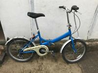 Raleigh fold up bike as new condition