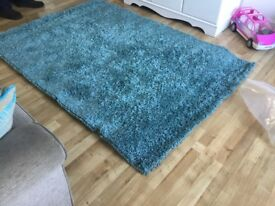 New next blue rug size 135 x 190