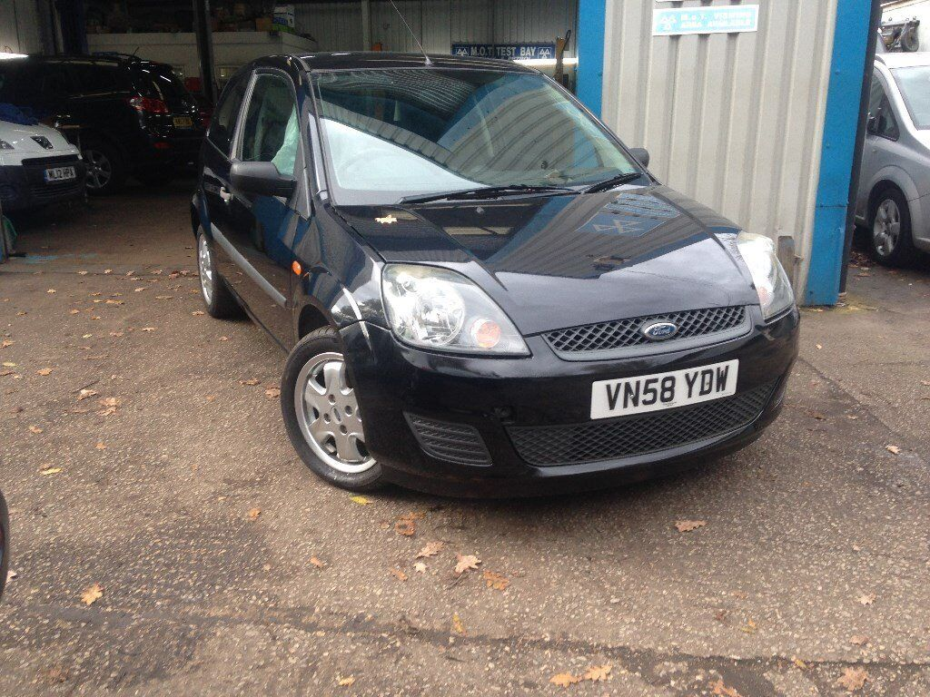 2008 FORD FIESTA 1.2 ZETEC LOW MILES ONLY 73,000 FACELIFT BLACK PETROL
