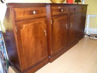 Sideboard - Antique style breakfront sideboard