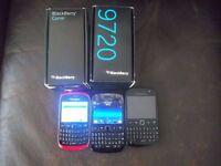 3 Blackberrys 9320,9720