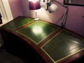 Gorgeous antique Curved Executive vintage unusual Desk