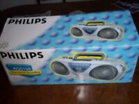 PHILLIPS AQ5150 PORTABLE STEREO RADIO CASSETTE RECORDER NEW & BOXED
