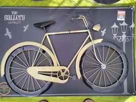 Wall Art - Designer metal bicycle sculptures suitable for bedroom or living room