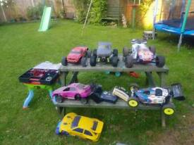 Radio controlled cars job lot