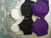 3 new bra's never worn.42 DD.