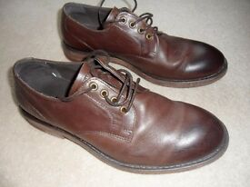 MEN'S BROWN SHOES, SIZE 7. KURT GEIGER, MORTON LEATHER FORMAL. VERY GOOD CONDITION. £25 ONO