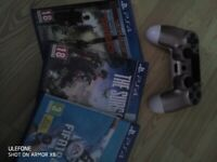 Rose gold PS4 controller +3 games