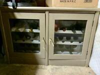 Solid oak wine cabinet
