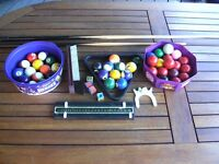 Snooker & Pool balls not complete sets Triangle, brush, cue & rest, chalk