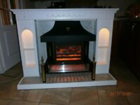 Fireplace and Electric Fire used
