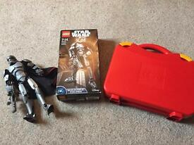 Lego carry case and Lego Star Wars buildable figure