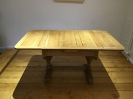 Solid oak refectory style extending table