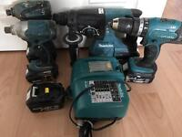 Makita package 18v cordless