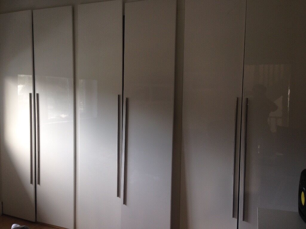 6 Ikea Wardrobe Doors White 50x229 Included Handles Like