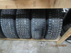 235/70R16SET OF 4 USED FIRESTONE WINTER TIRES ON FORD ESCAPE OEM RIMS