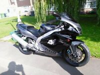 Yamaha YZF Thunderace 1000cc low miles long MOT