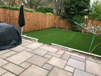 paving and landscaping driveway patio artificial grass drainage fencing walling garden