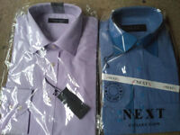 2 shirts for sale - Blue and Pink (size: 15.5)