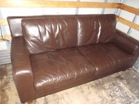 leather 3-seater sofa - can deliver