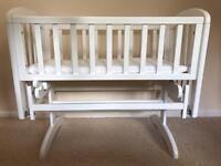 John Lewis Anna Glider Crib - White
