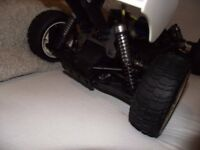 REMOTE CONTROLLED RC NITRO CAR 1:8 SCALE GOOD CONDITION PETROL ENGINE VERY FAST GS STORM BARGAIN