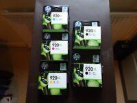 set of genuine HP 920XL cartridges