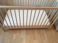 Baby cot for one baby like a new!!!