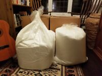 Unused polystyrene balls for bean bag, about 5 cubic feet