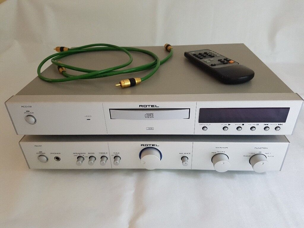 Rotel RA-01 stereo amplifier & RCD-02 CD player