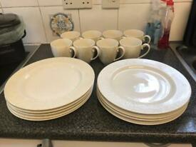 Monsoon Denby Lucille gold plates and mugs