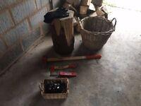 Wood chopping starter kit for wood burning stoves etc